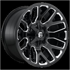 Fuel Custom Wheels D623 WARRIOR GLOSS BLACK MILLED