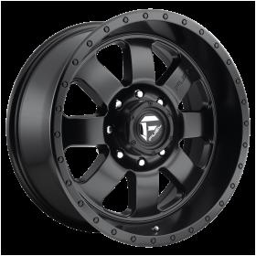 Fuel Custom Wheels D628 BAJA MATTE GUN METAL BLACK LIP
