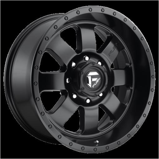 Fuel Wheels D628 BAJA MATTE GUN METAL BLACK LIP
