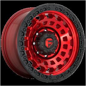 Fuel Custom Wheels D632 ZEPHYR CANDY RED BLACK BEAD RING