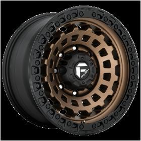 Fuel Custom Wheels D634 ZEPHYR MATTE BRONZE BLACK BEAD RING