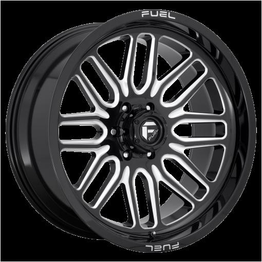 Fuel Wheels D662 IGNITE GLOSS BLACK MILLED
