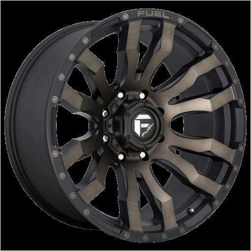 Fuel Wheels D674 BLITZ MATTE BLACK DOUBLE DARK TINT