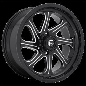 Fuel Custom Wheels D676 SEEKER GLOSS BLACK MILLED
