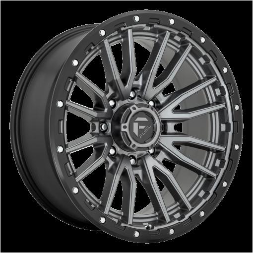 Fuel Wheels D680 REBEL MATTE GUN METAL BLACK BEAD RING