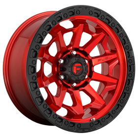 Fuel Custom Wheels D695 COVERT CANDY RED BLACK BEAD RING