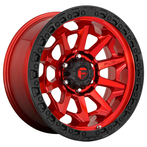 Fuel Wheels D695 COVERT CANDY RED BLACK BEAD RING