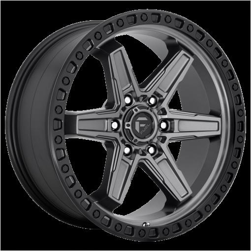 Fuel Wheels D698 KICKER MATTE GUN METAL BLACK BEAD RING