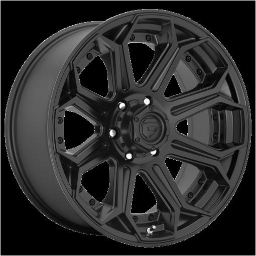 Fuel Wheels D706 SIEGE PLATINUM MATTE BLACK
