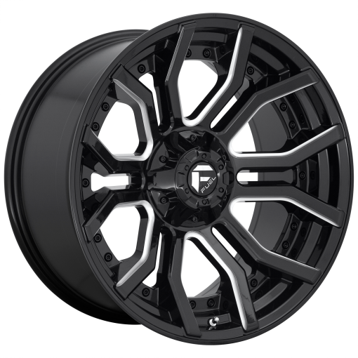 Fuel Wheels D711 RAGE GLOSS BLACK MILLED
