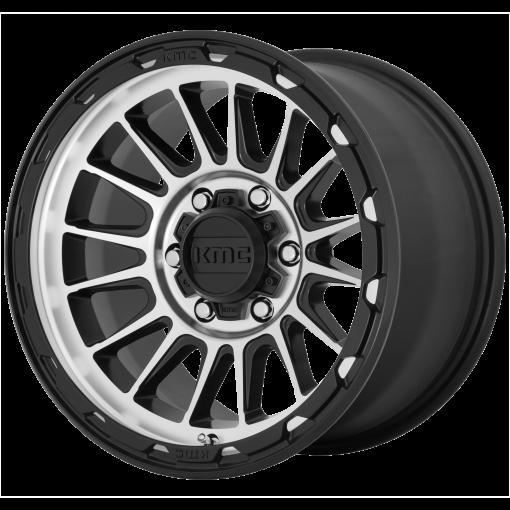 KMC Custom Wheels KM542 IMPACT Satin Black Machined