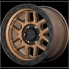KMC Custom Wheels KM544 MESA MATTE BRONZE WITH BLACK LIP