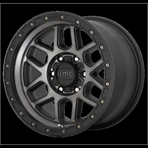 KMC Wheels KM544 MESA SATIN BLACK WITH GRAY TINT