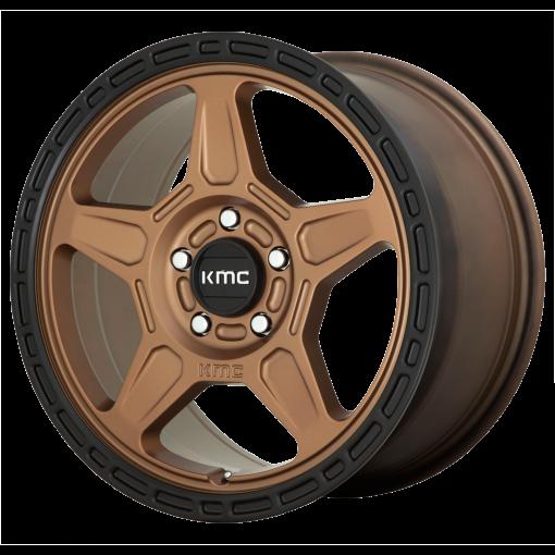 KMC Custom Wheels KM721 ALPINE MATTE BRONZE WITH BLACK LIP