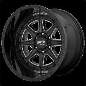 Moto Metal Custom Wheels MO801 PHANTOM GLOSS BLACK MILLED