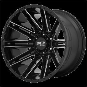 Moto Metal Custom Wheels MO998 KRAKEN GLOSS BLACK MILLED
