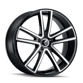 Kraze Wheels 190 BLACK/MACHINED FACE