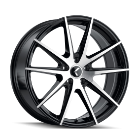 KRAZE CUSTOM WHEELS 193 BLACK/MACHINED FACE