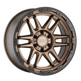 Black Rhino Custom Wheels APACHE MATTE BRONZE W/BLACK LIP EDGE & BOLTS