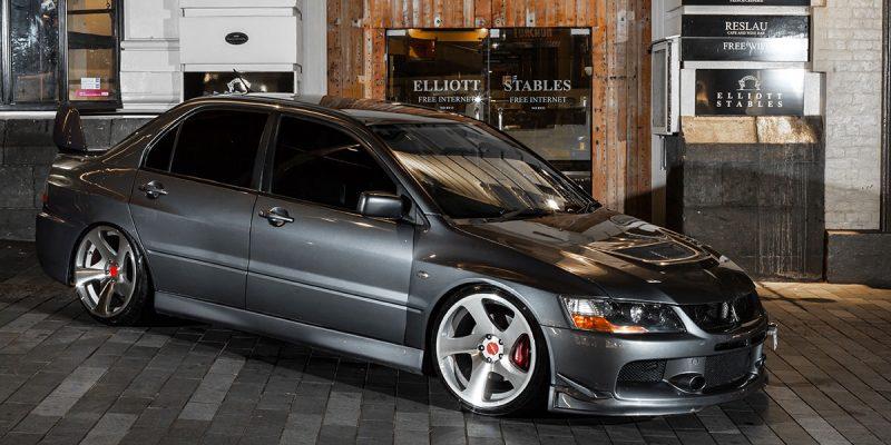 Mitsubishi Lancer Evolution Rotiform TMB Wheels