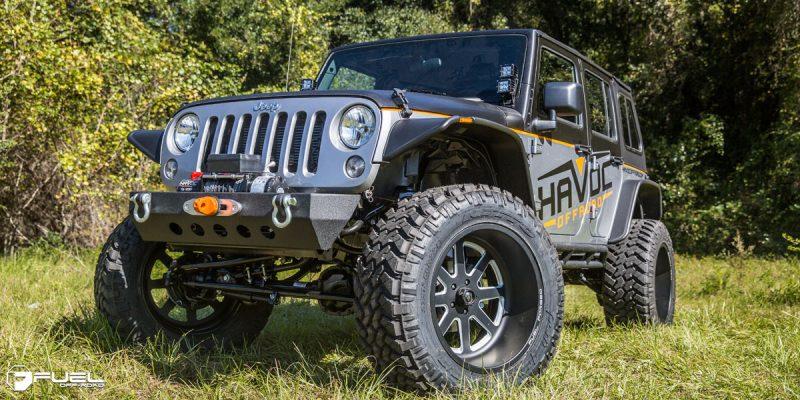 Jeep Wrangler 22x12 Fuel FF09 Wheels