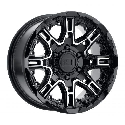 LEVEL 8 Custom Wheels SLINGSHOT GLOSS BLACK W/MACHINED FACE
