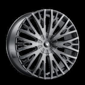 Mazzi Wheels TWIST TIE MATTE BLACK W/MACHINED DARK TINT