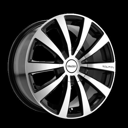 Touren Wheels TR3 BLACK/MACHINED FACE/MACHINED LIP