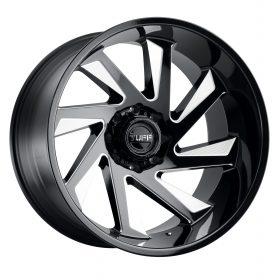TUFF Wheels T1B GLOSS BLACK W/MILLED SPOKE