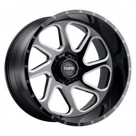 TUFF Wheels T2B GLOSS BLACK W/MILLED SPOKE