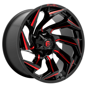 D755 REACTION GLOSS BLACK MILLED WITH RED TINT