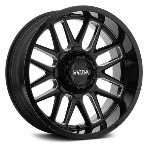 Ultra Wheels 231BM BUTCHER GLOSS BLACK W/MILLED ACCENTS