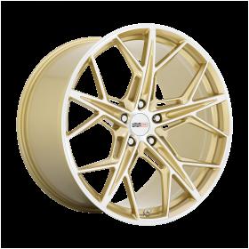 HAMMERHEAD GLOSS GOLD W/ MIRROR CUT FACE