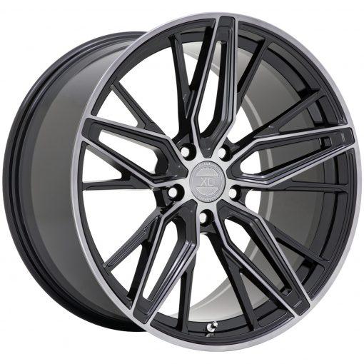 XO Wheels ZURICH GLOSS BLACK W/ MACHINED GLOSS DARK TINT
